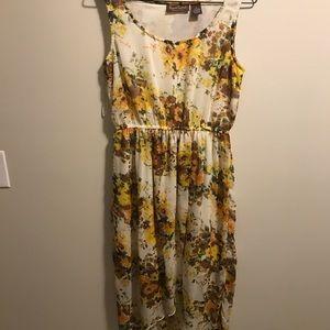 Summer floral high/low sundress